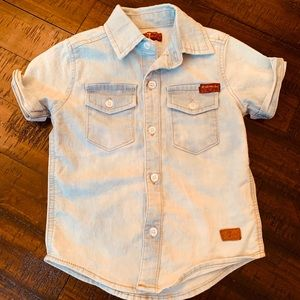 7 Of All Mankind button up Toddler shirt-Size18Mos